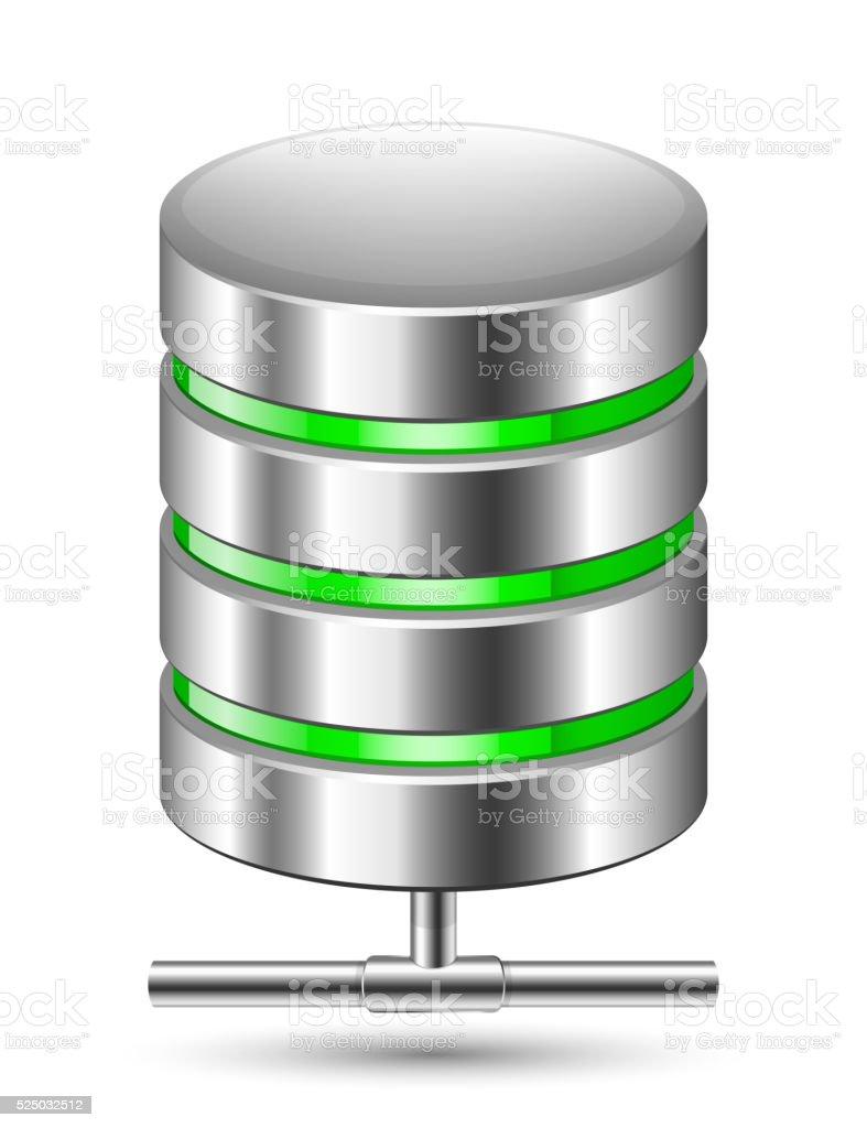 Database Icon. Vector illustration vector art illustration