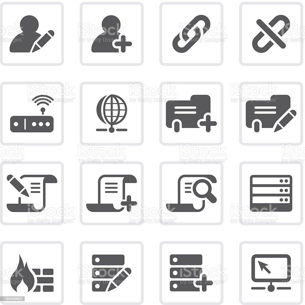 Database icons  | prime series vector art illustration