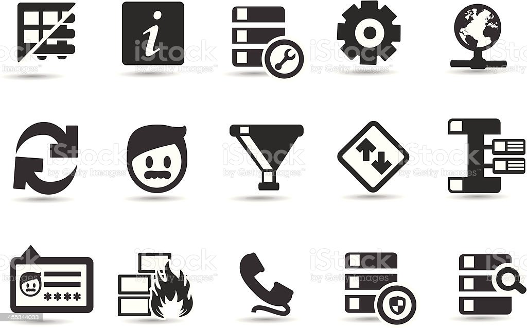 Database Icons royalty-free stock vector art