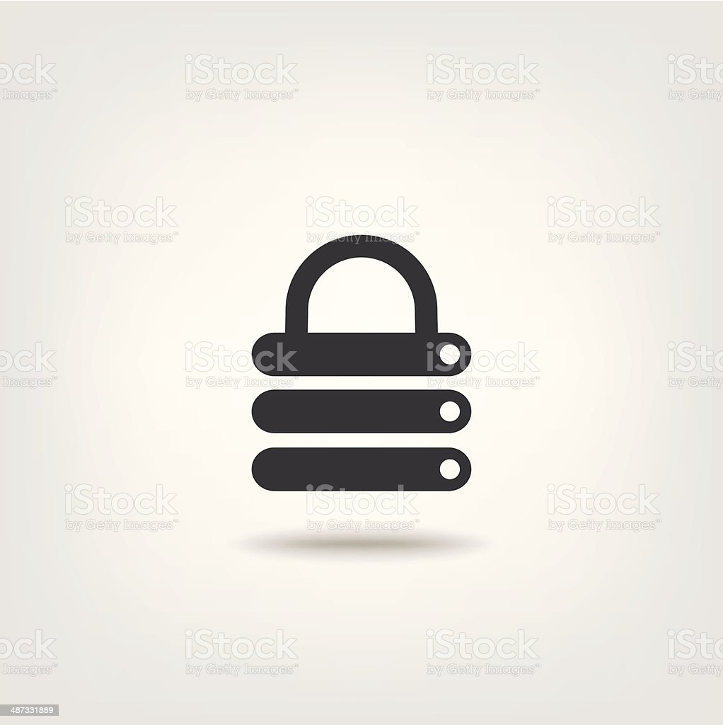 Database security vector art illustration