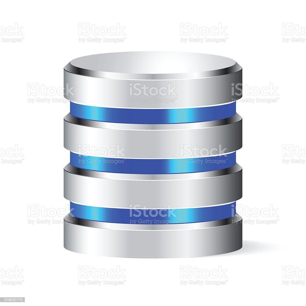 Database vector art illustration