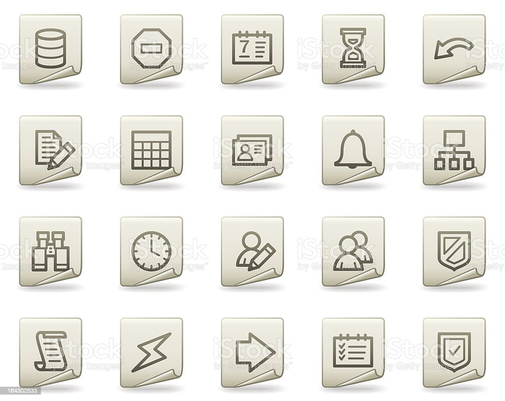 Database web icons, document series royalty-free stock vector art