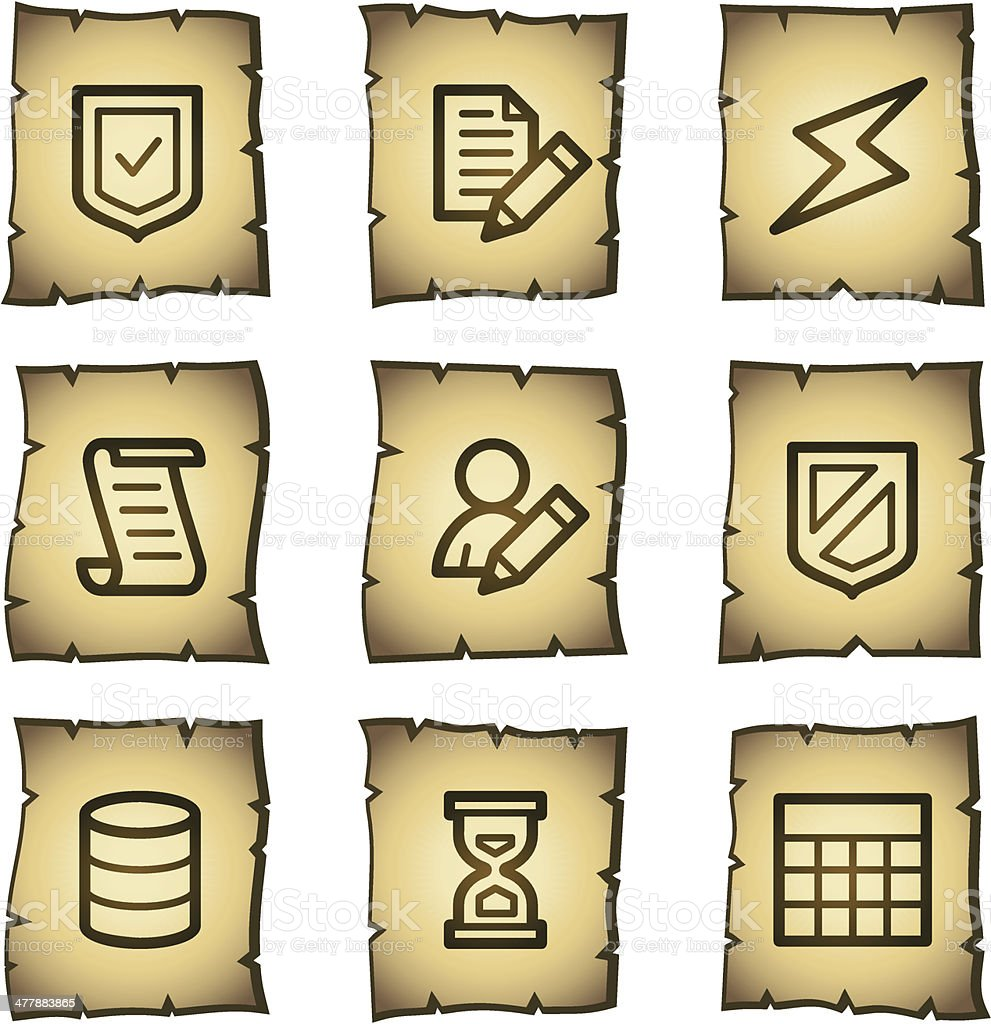 Database web icons, papyrus series royalty-free stock vector art