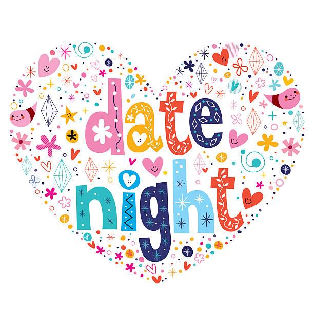 First Night Clip Art : Date night clip art vector images illustrations istock