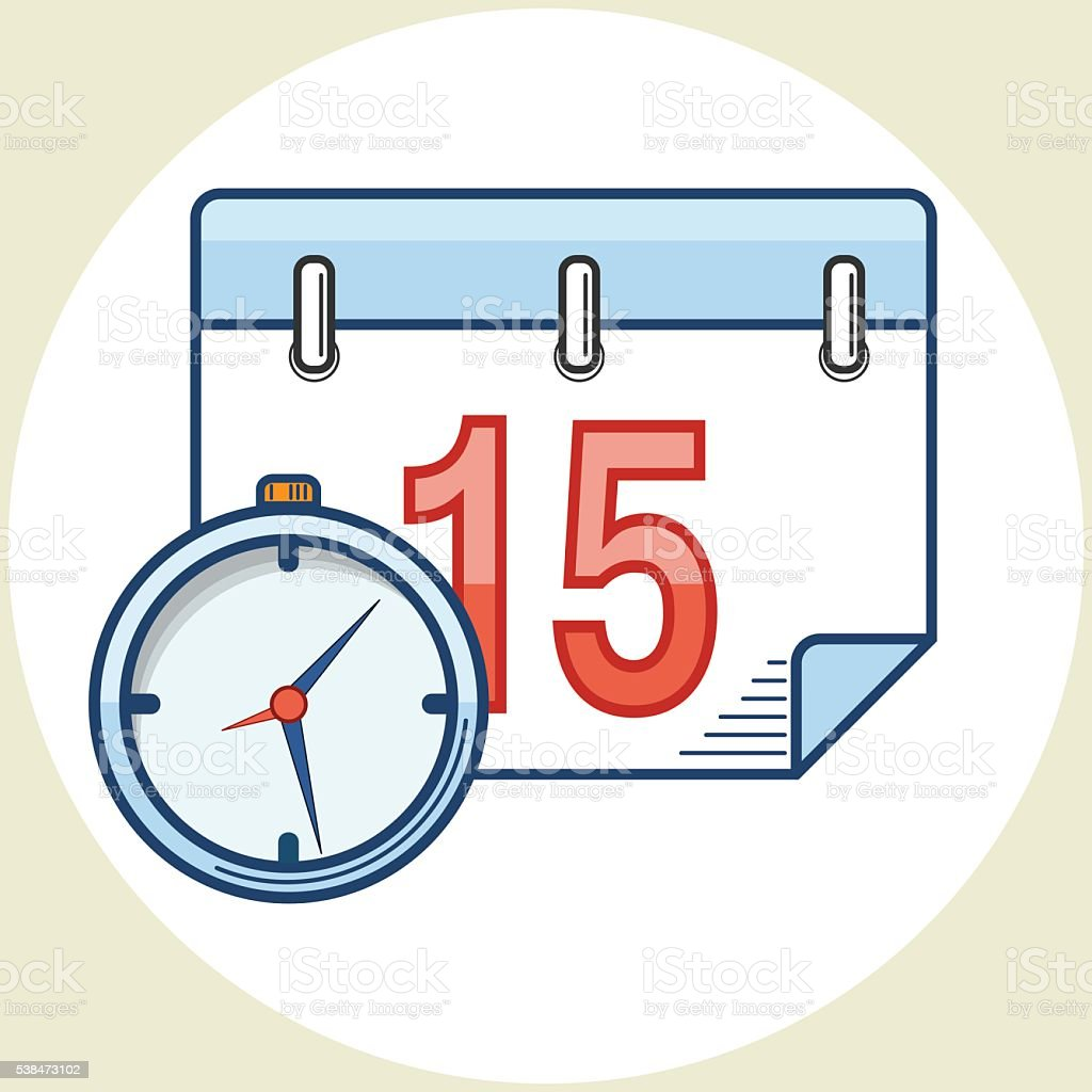 Date Time. Vector Icon vector art illustration