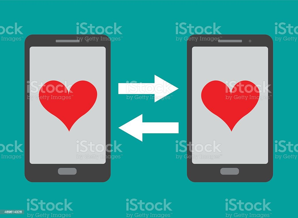Dating app vector art illustration