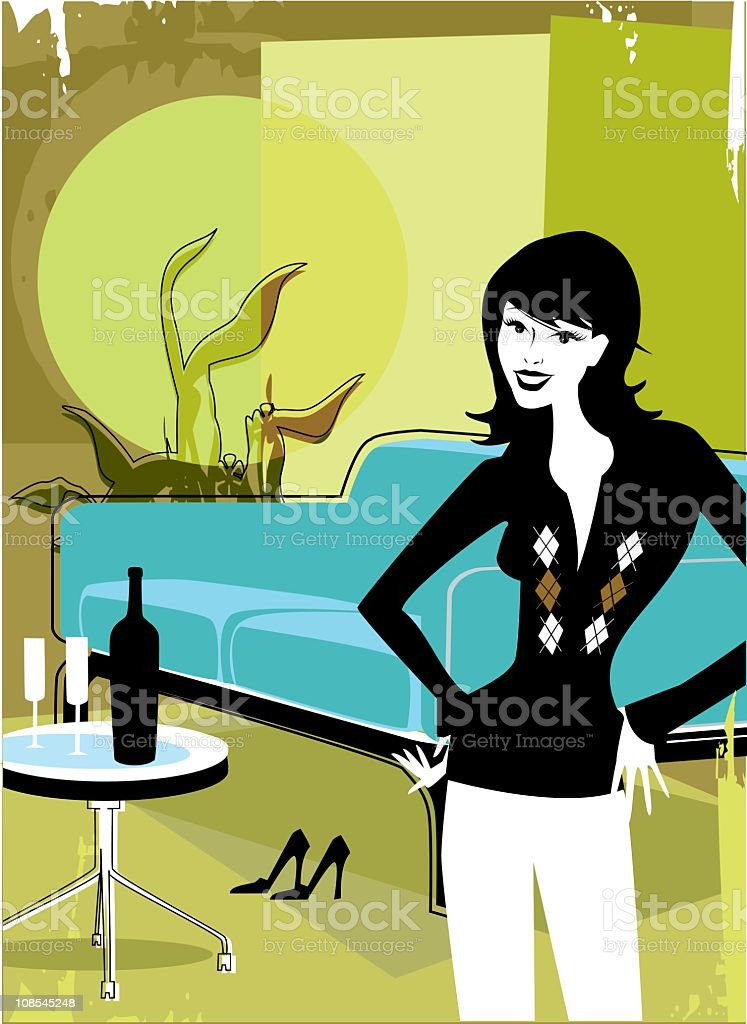 Dating Game royalty-free stock vector art