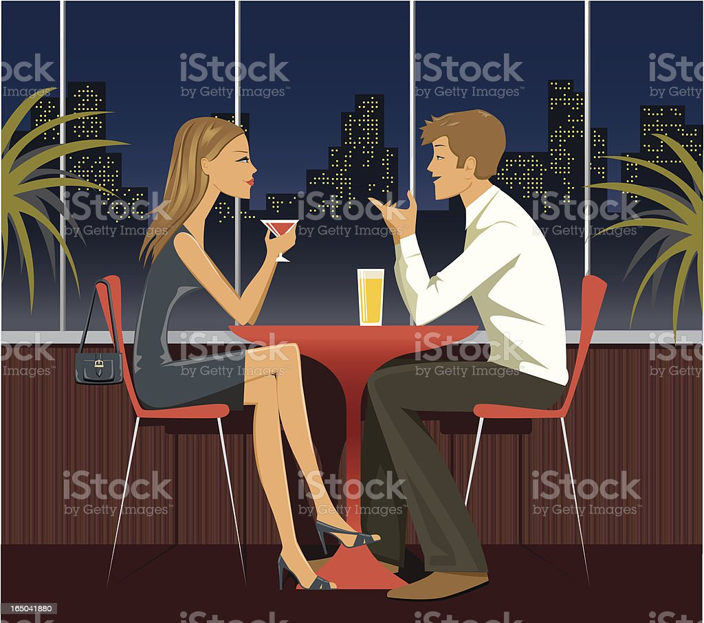 Dating - series vector art illustration