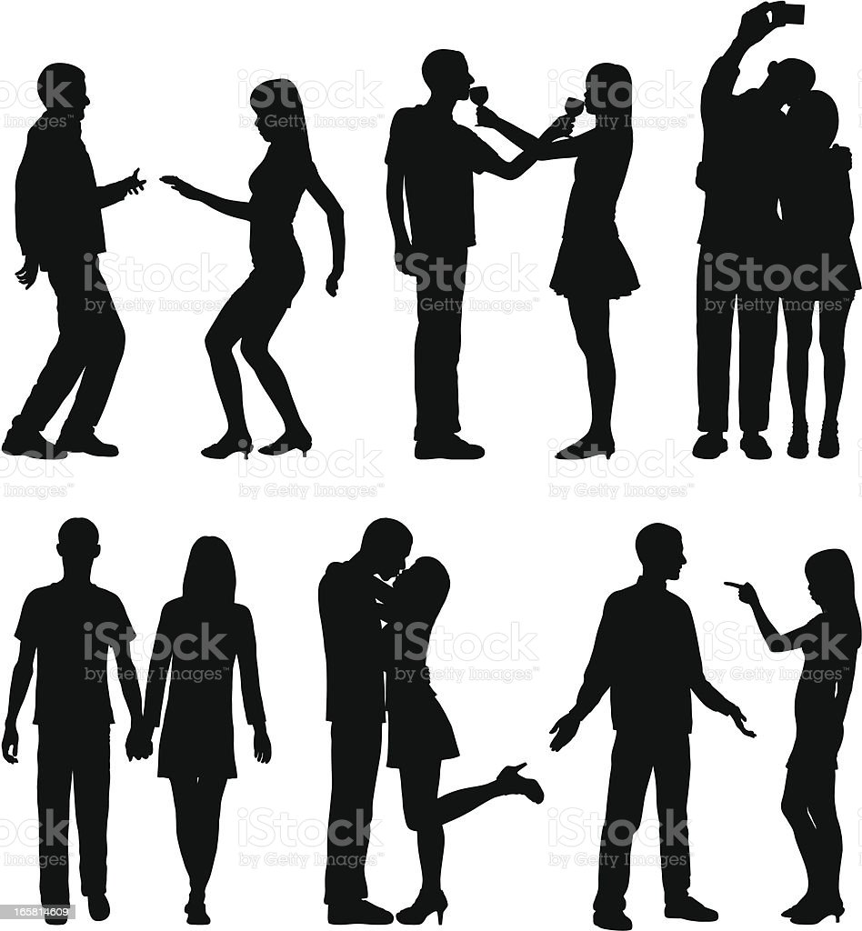 Dating vector art illustration