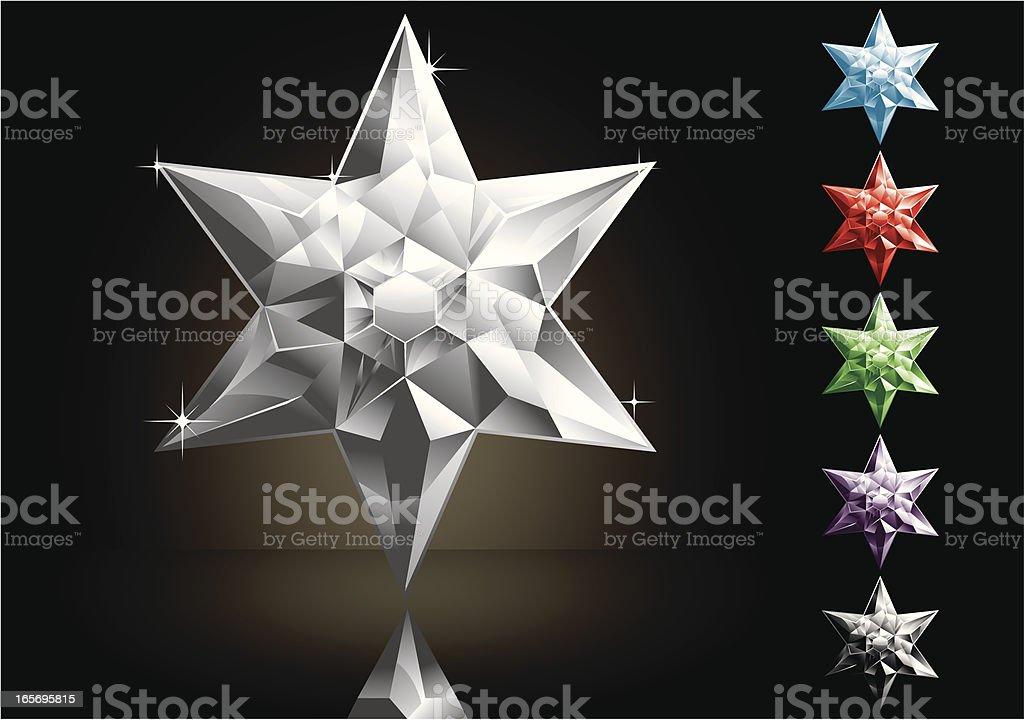 David Star's Gems vector art illustration