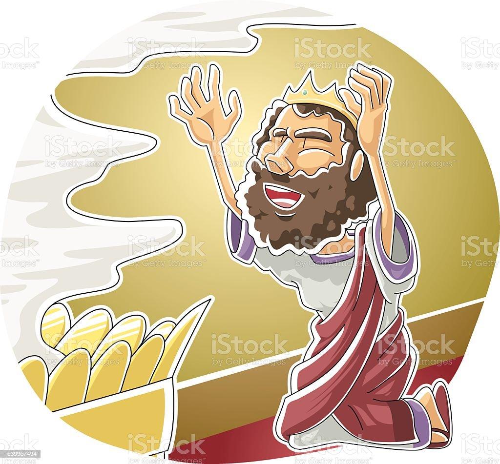 David's Prayer vector art illustration