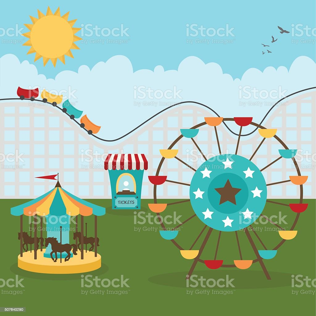 Day at the Fair vector art illustration