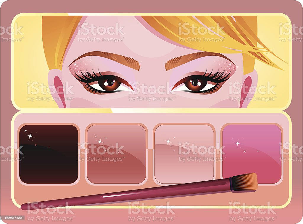 Day Make-up Cosmetics royalty-free stock vector art