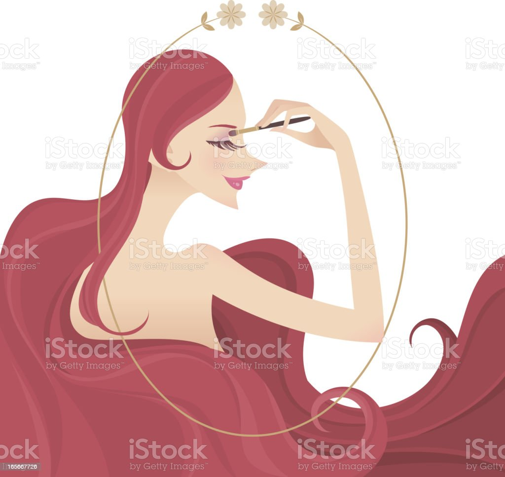 Day Make-up royalty-free stock vector art