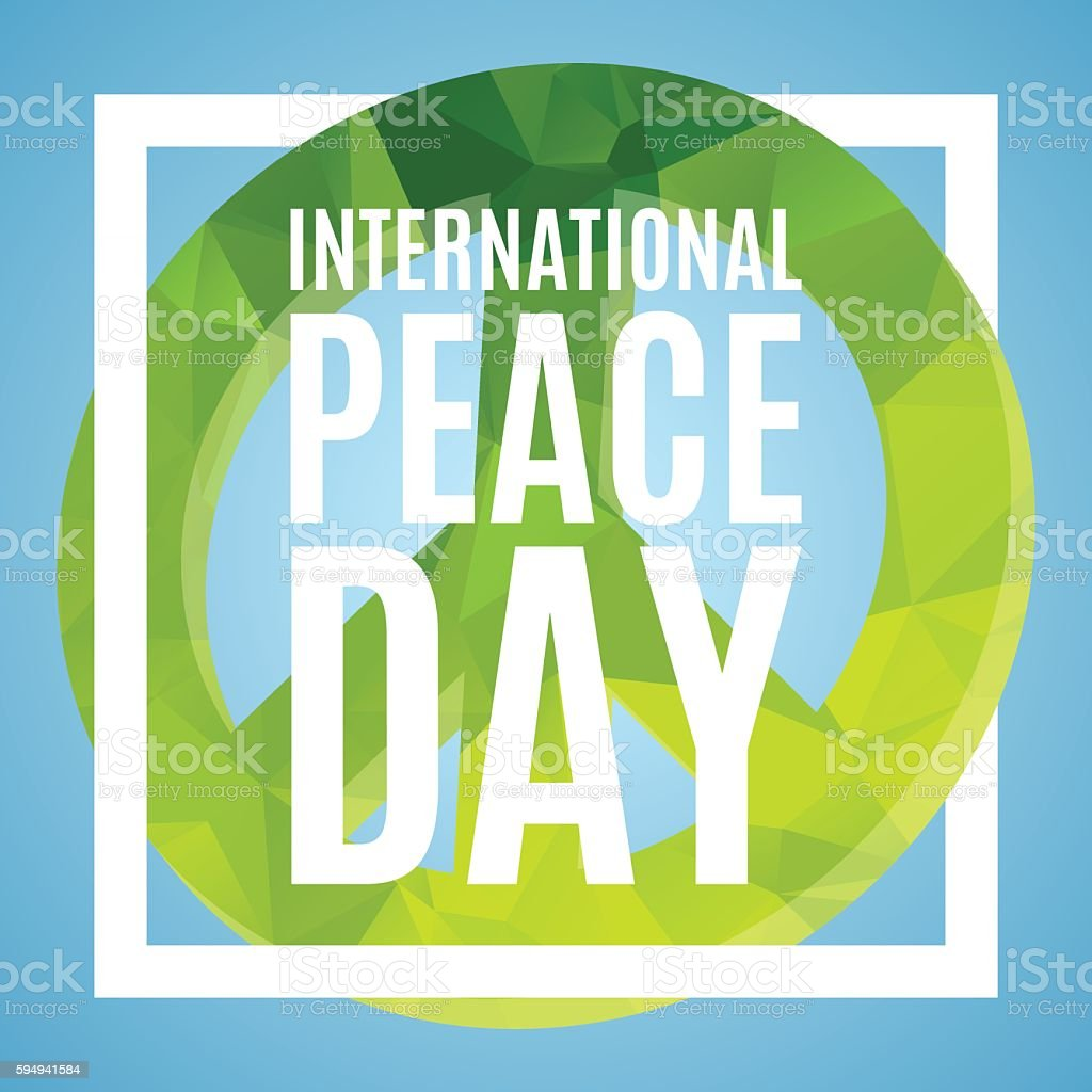 Day of Peace poster vector art illustration