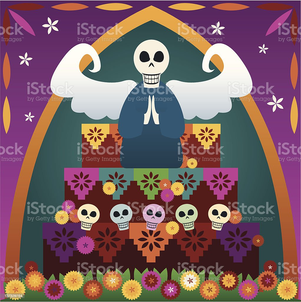 Day of the Dead Altar royalty-free stock vector art