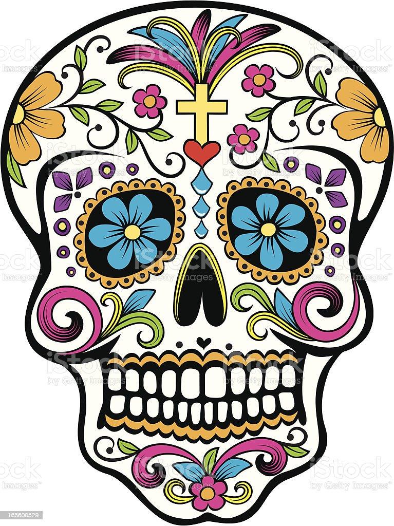 Day of the Dead celebration Sugar Skull vector art illustration