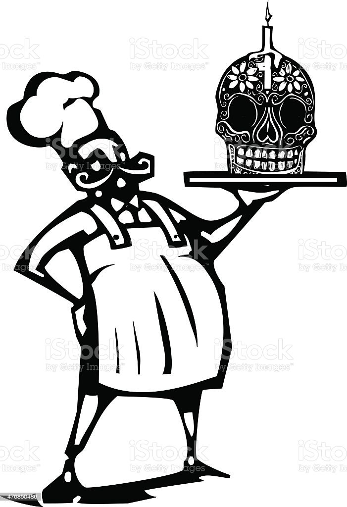 Day of the dead Chef vector art illustration