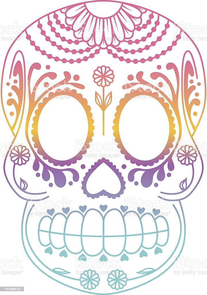 Day of the Dead Skull royalty-free stock vector art