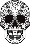 Day of the Dead Sugar Skull Icon Calavera