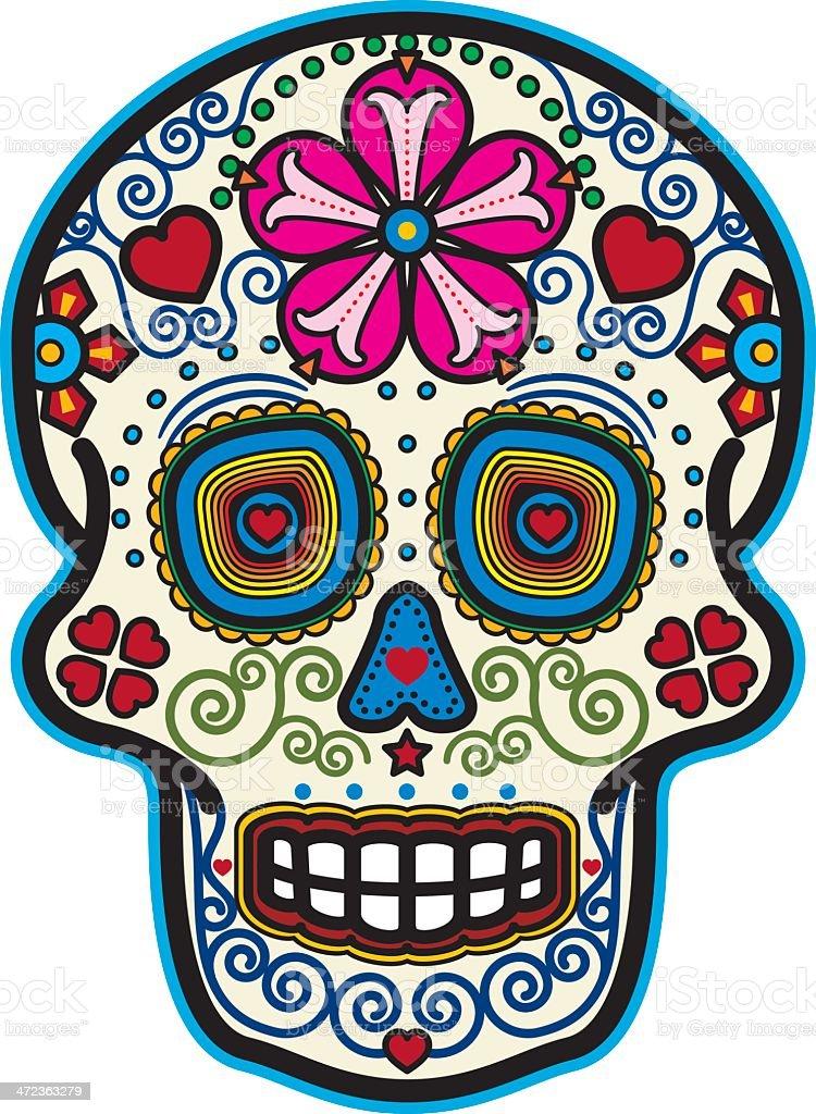 Day of the Dead Sugar Skull vector art illustration