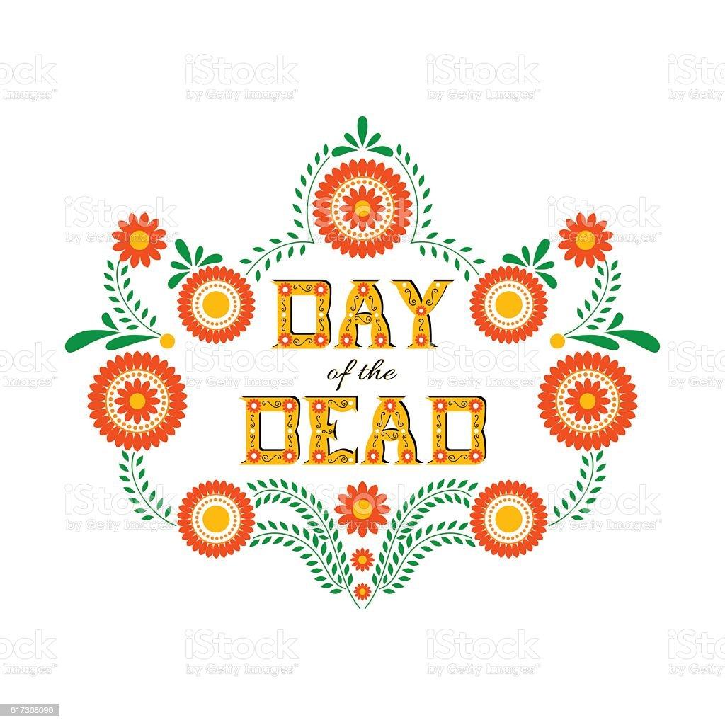 Day of the dead vector illustration poster vector art illustration