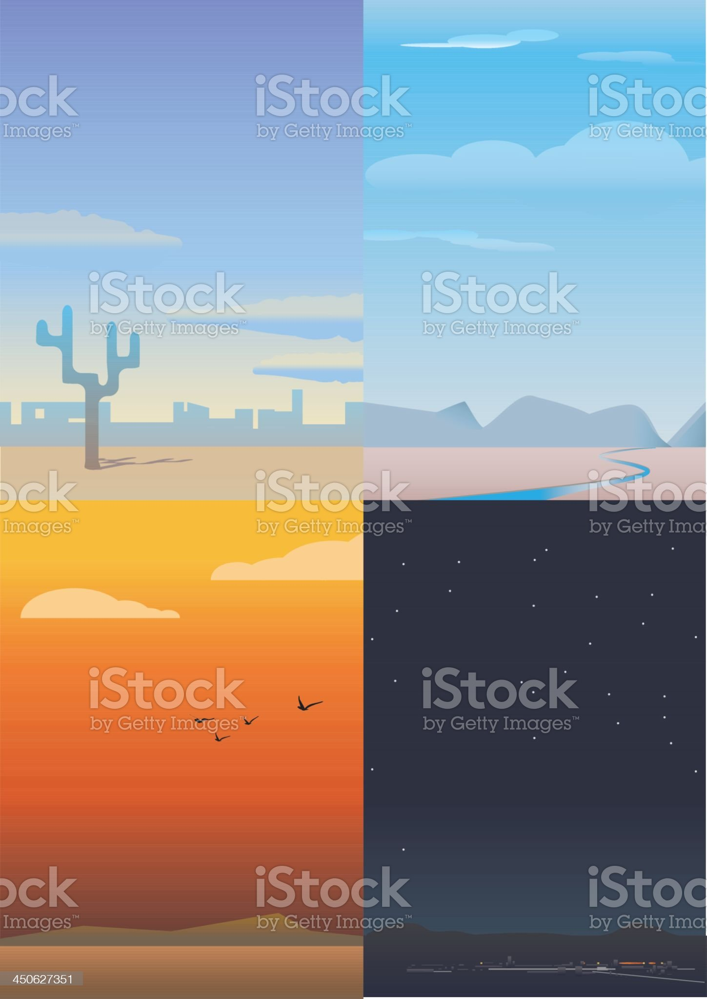Day trip illumination royalty-free stock vector art