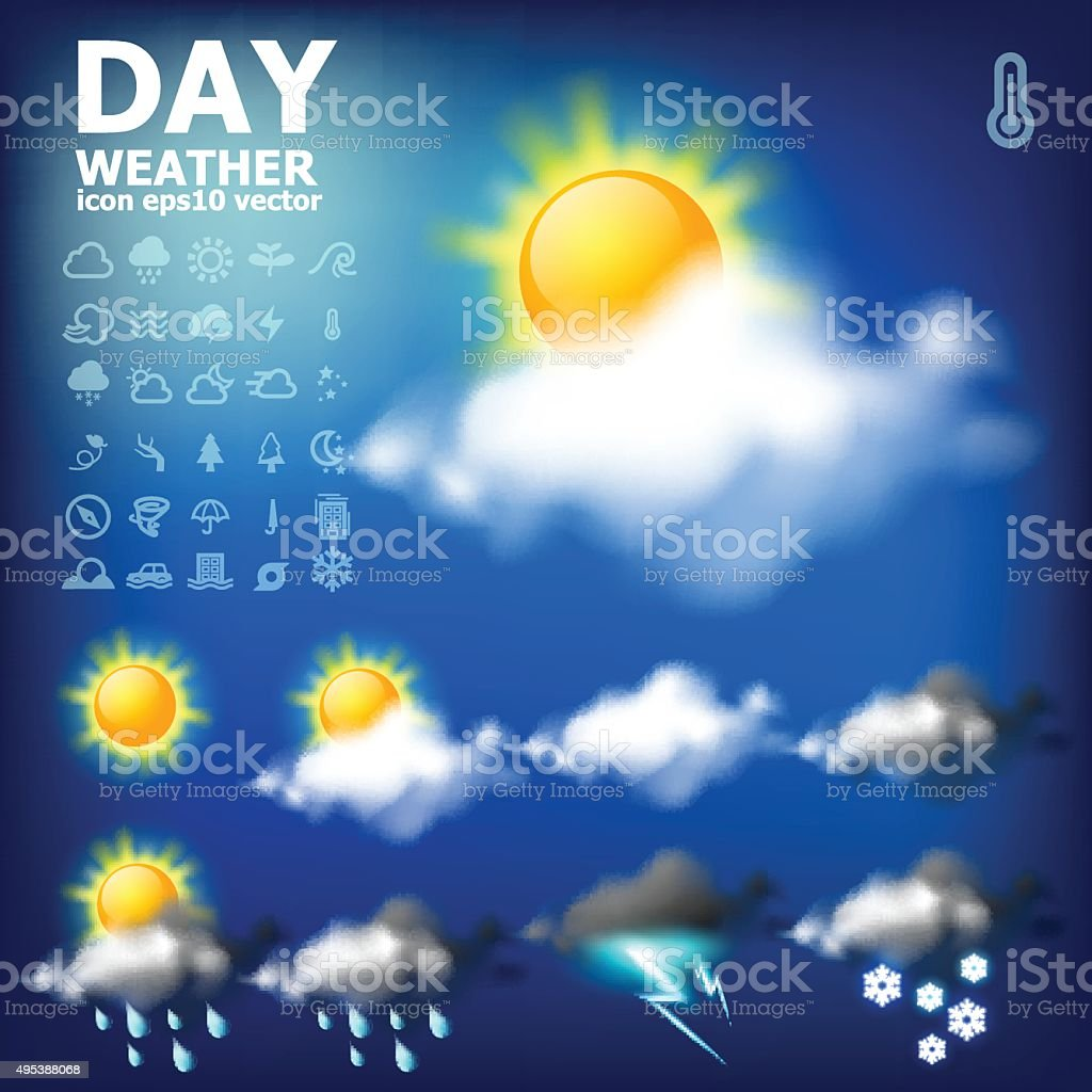 Day weather app icon royalty-free stock vector art