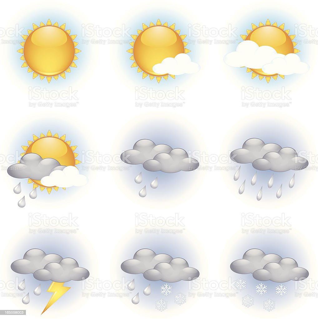 Day weather icons royalty-free stock vector art