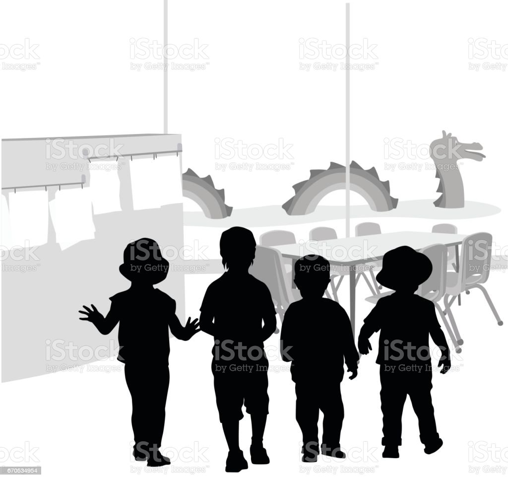 Daycare Playtime vector art illustration
