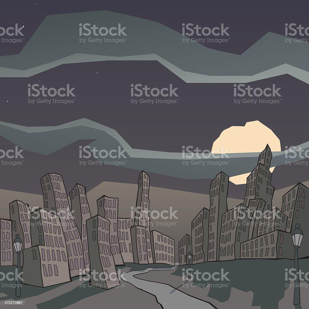 Dead City vector art illustration