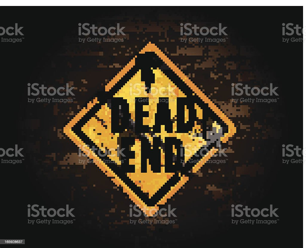 Dead End on Brick Wall royalty-free stock vector art