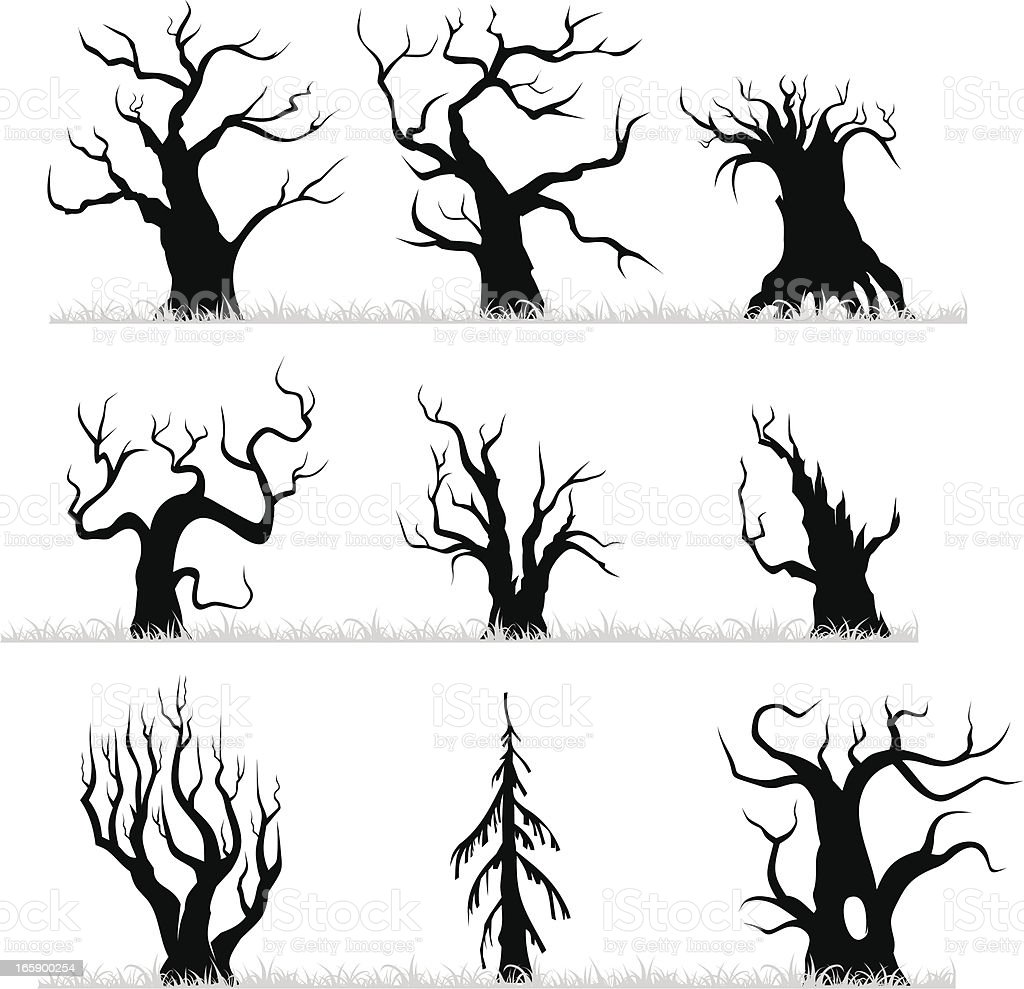 Dead forest royalty-free stock vector art