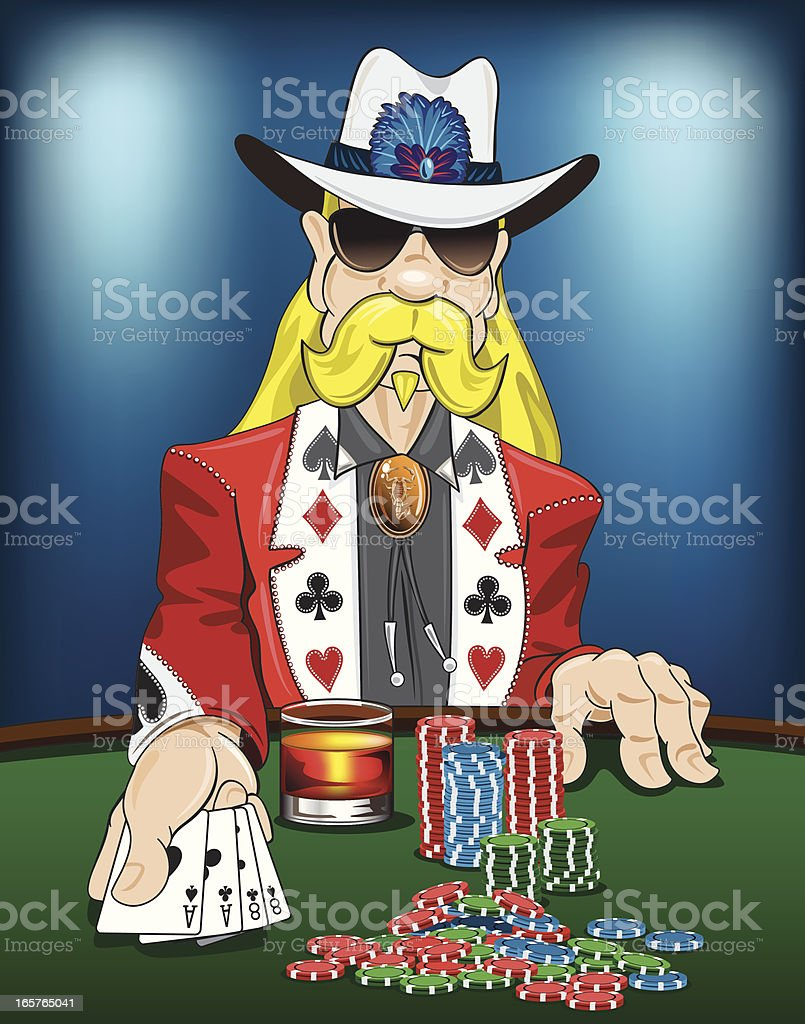 Dead Mans Hand vector art illustration