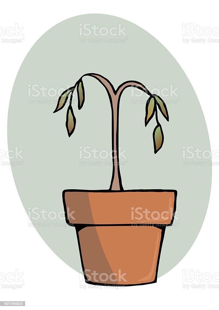 dead plant vector art illustration