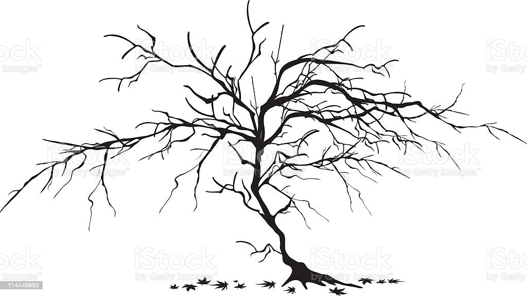 dead tree royalty-free stock vector art
