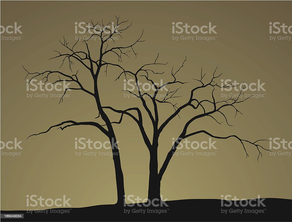 Dead Trees royalty-free stock vector art