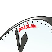 Deadline clock, time concept. Business background. Internet marketing. Daily infographic
