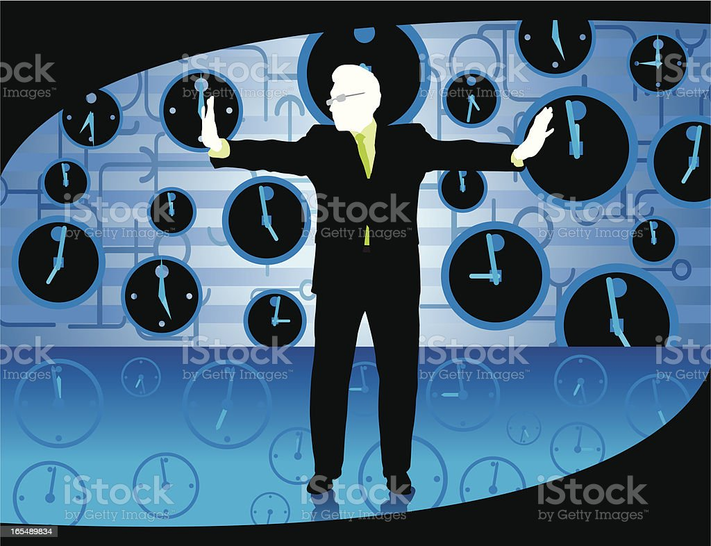 Deadline - Work Schedule, Stopping Time royalty-free stock vector art