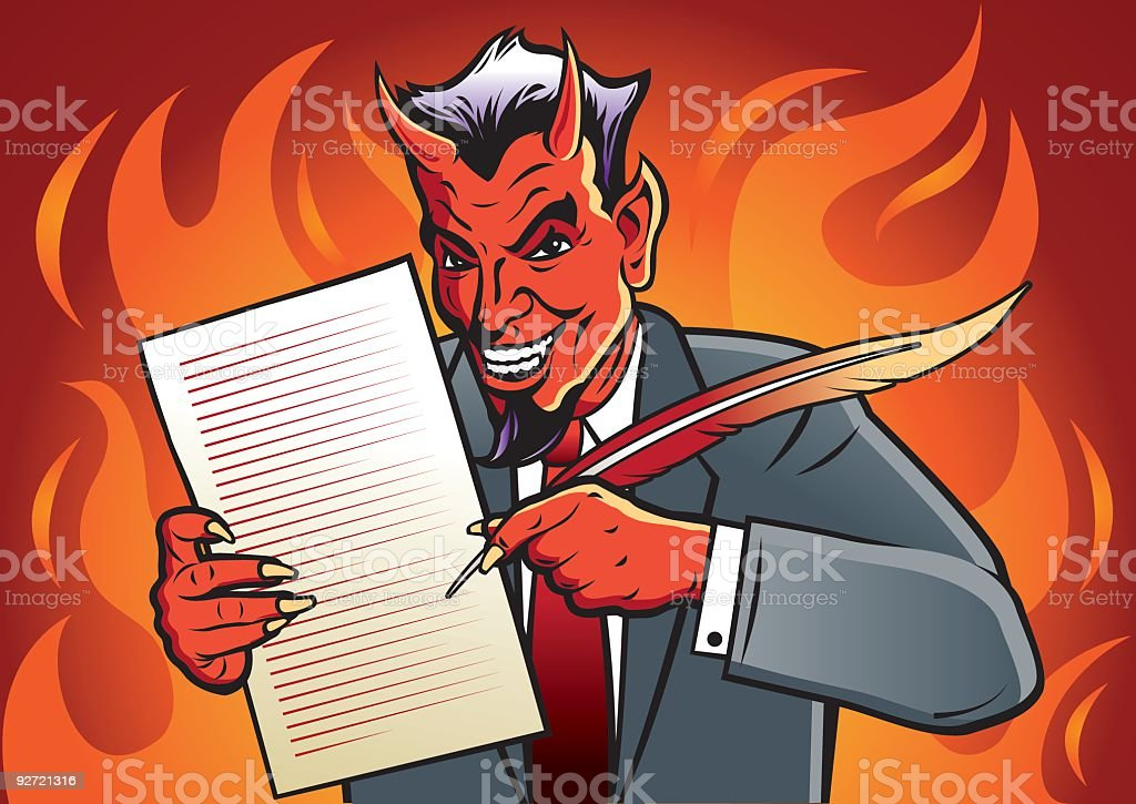 Deal with the Devil royalty-free stock vector art