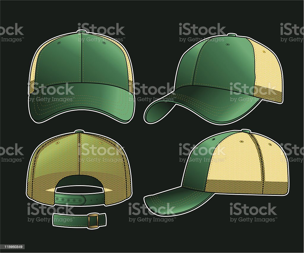 Dear John Trucker Cap royalty-free stock vector art
