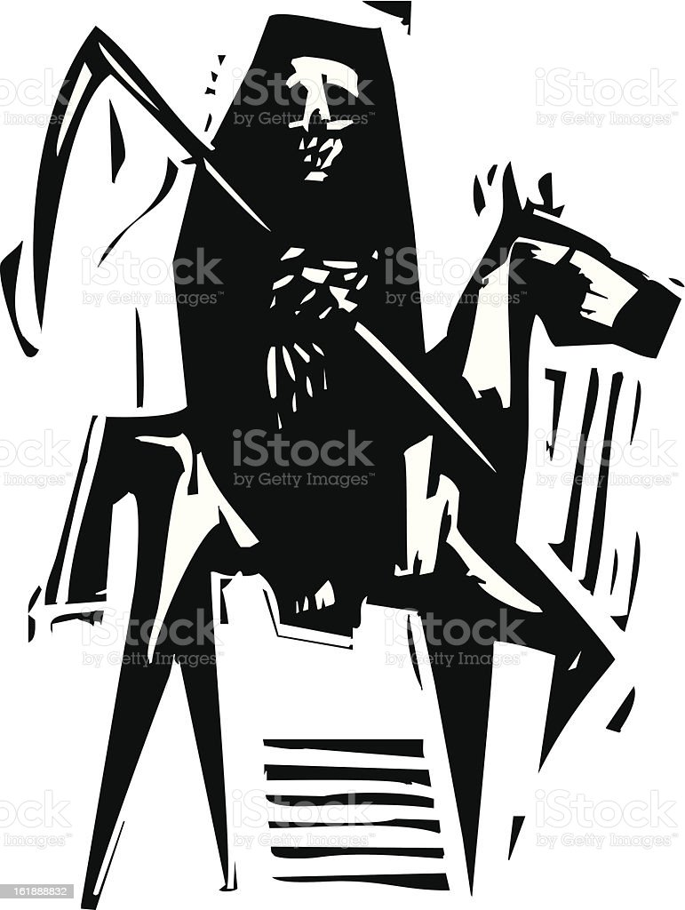 Death and Horse royalty-free stock vector art