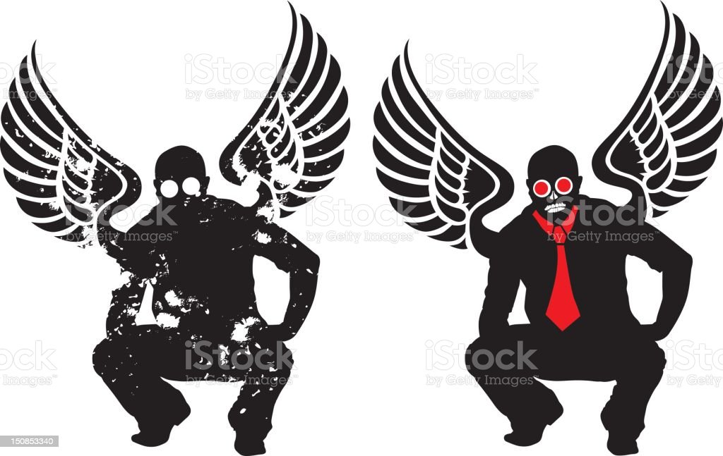 Death Angel royalty-free stock vector art