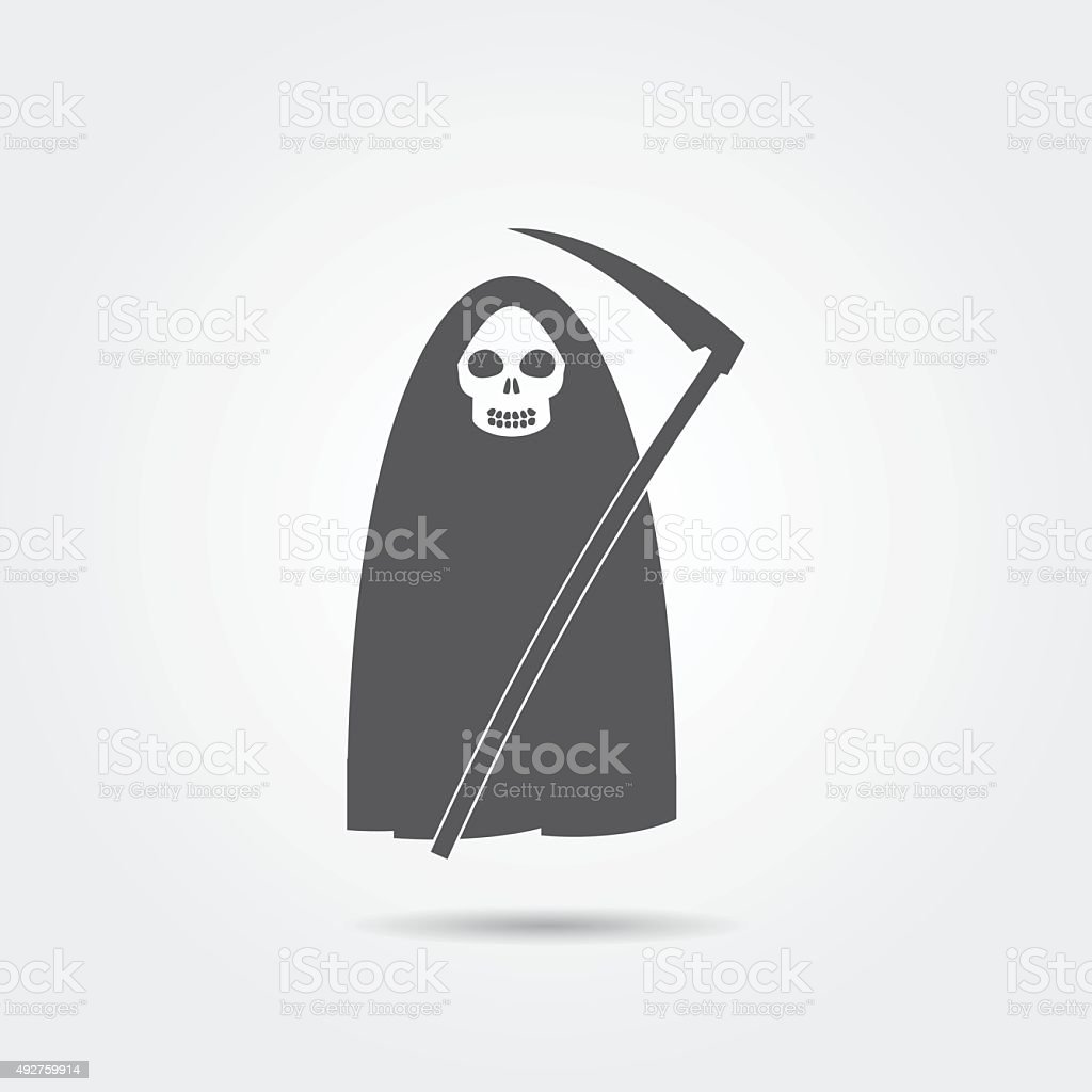 Death icon vector art illustration
