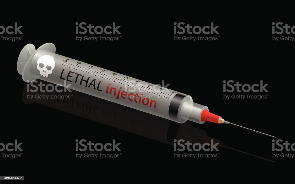 Death Penalty Lethal Injection vector art illustration
