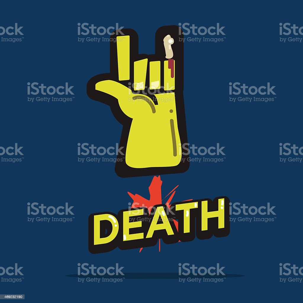 Death rock with lettering. zombie. halloween concepts vector art illustration