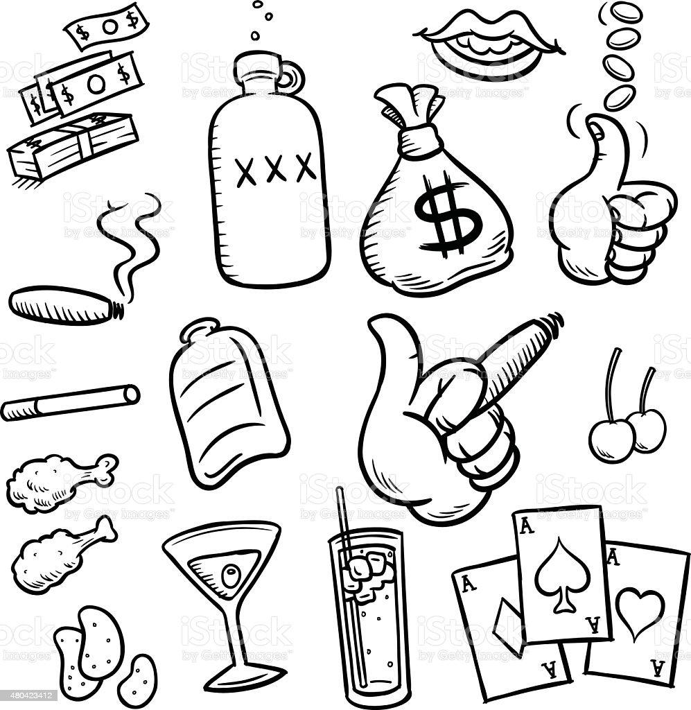 Debaucherous Fun vector art illustration