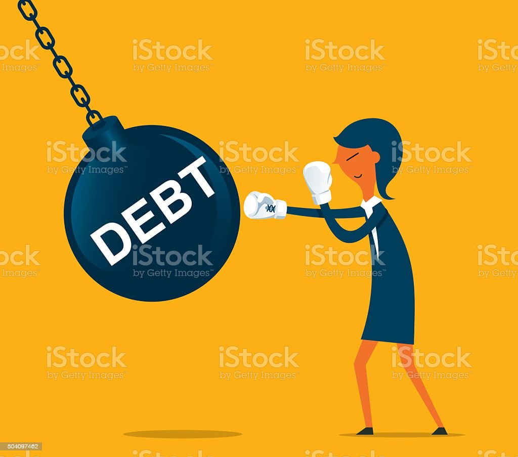 Debt vector art illustration