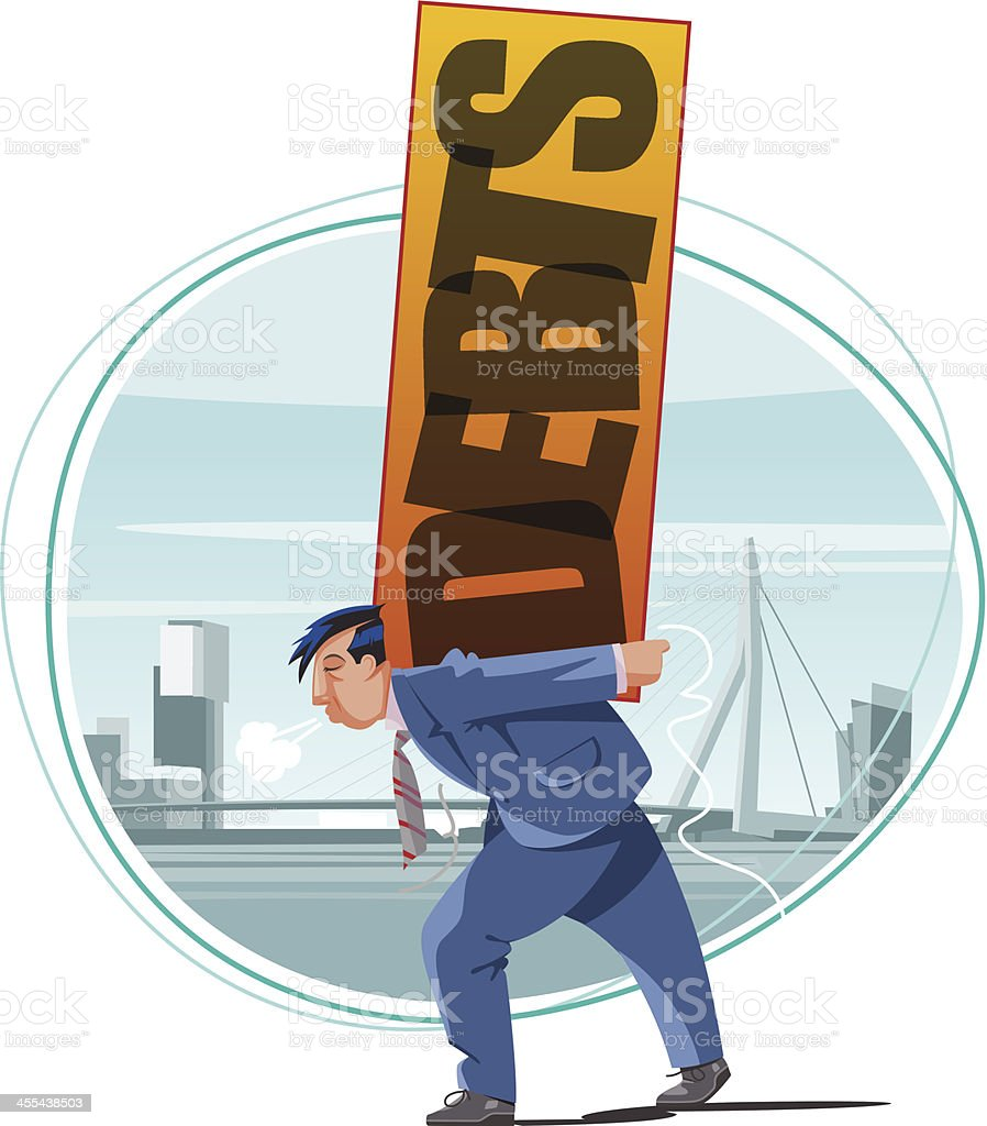 Debts vector art illustration