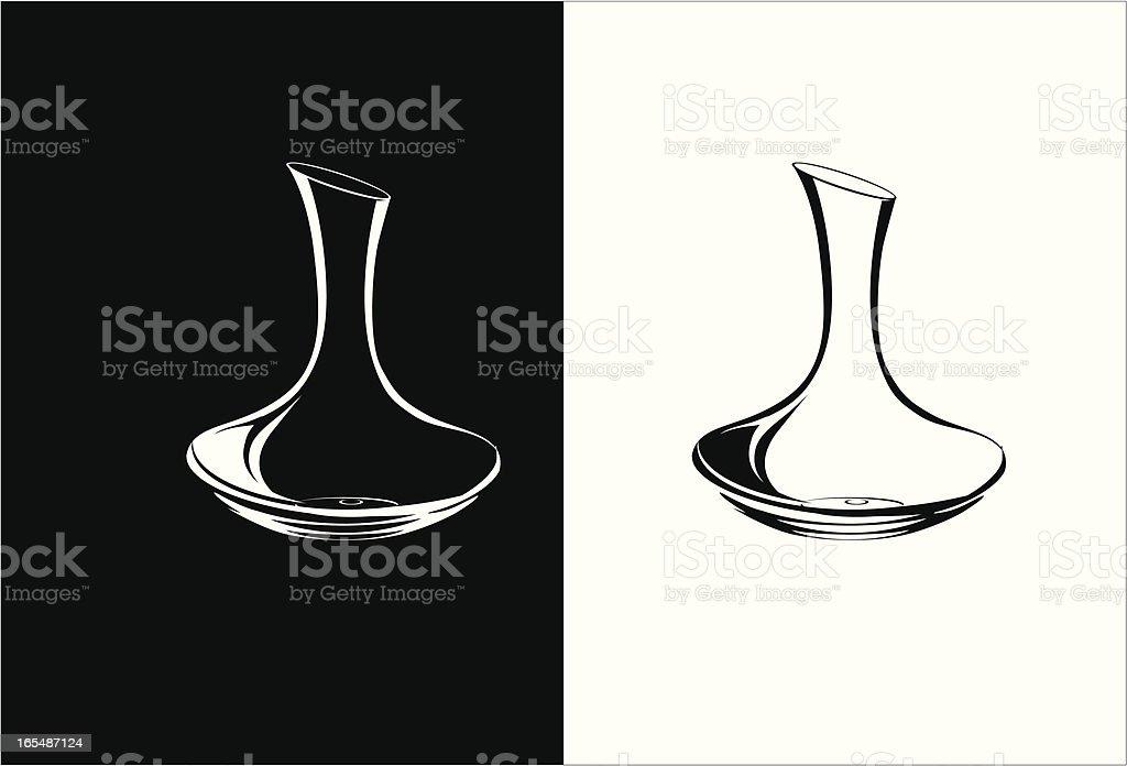 decanter vector art illustration